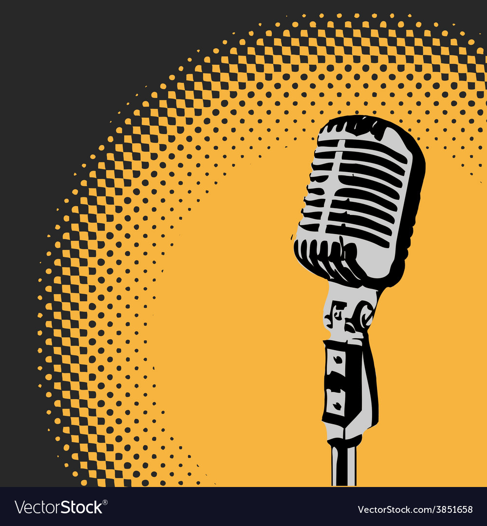 Retro microphone spotlight 2 vector | Price: 1 Credit (USD $1)