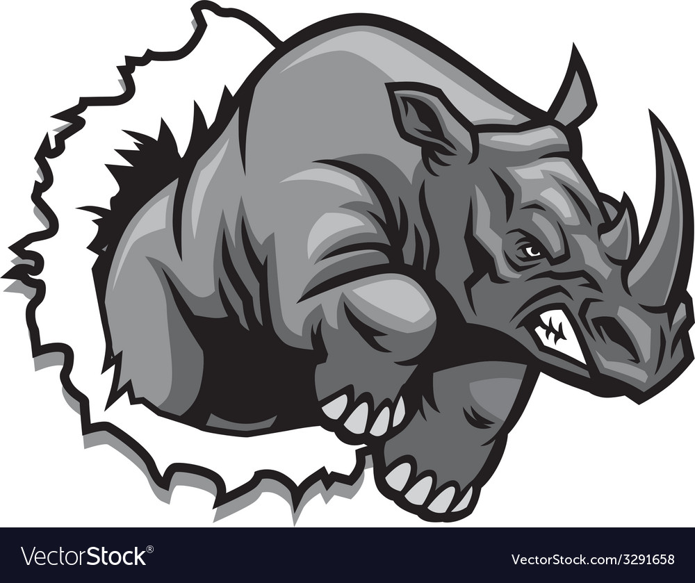 Rhino ripping vector | Price: 3 Credit (USD $3)