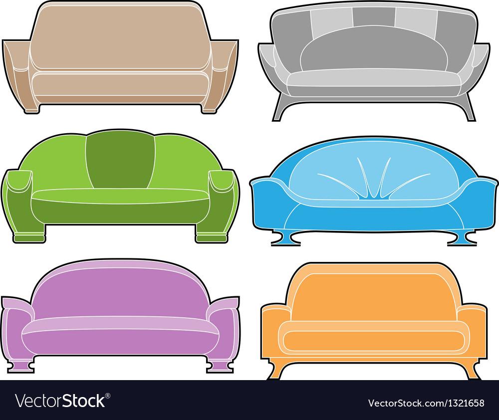 Sofa set vector | Price: 1 Credit (USD $1)