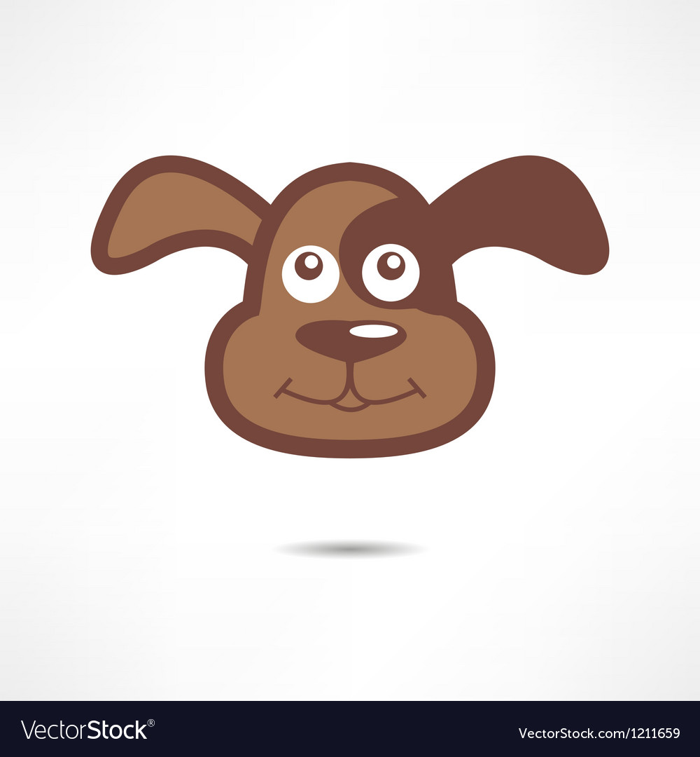 A smiling dog vector | Price: 1 Credit (USD $1)