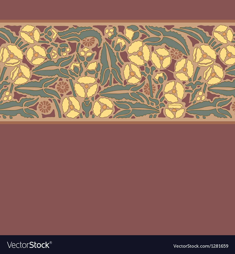 Floral pattern in modern style 10 vector