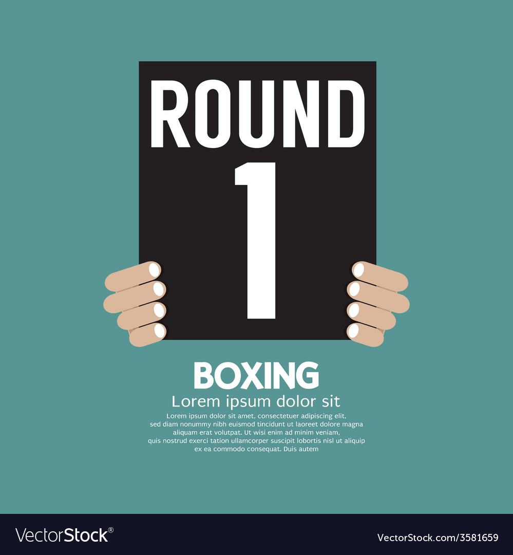 Hand show boxing ring board vector | Price: 1 Credit (USD $1)