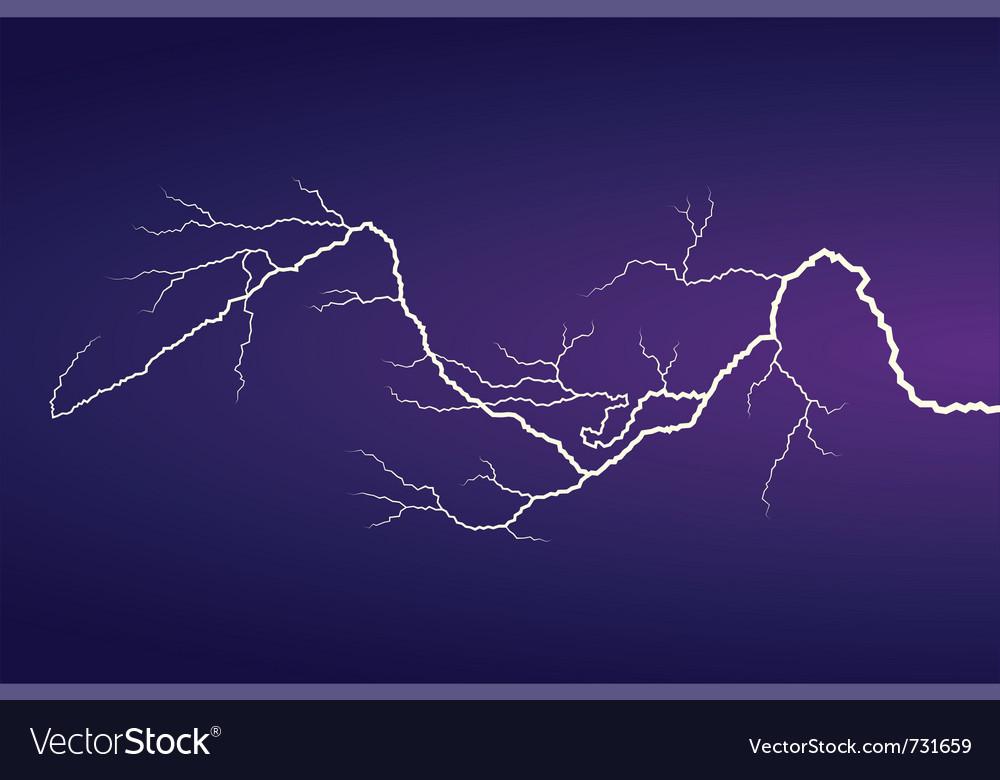 Horizontal lightning vector | Price: 1 Credit (USD $1)