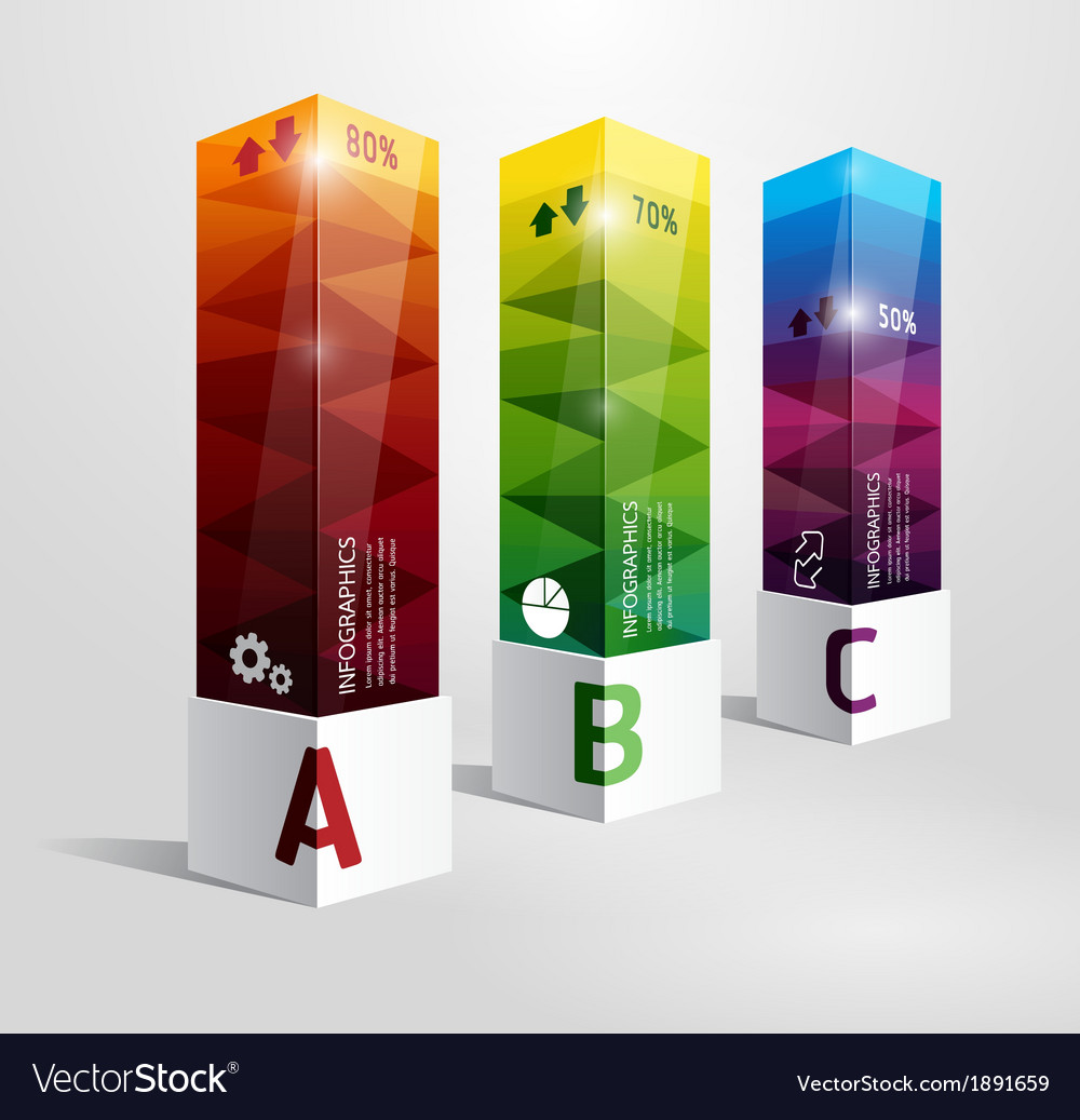 Infographic template modern box design vector   Price: 1 Credit (USD $1)