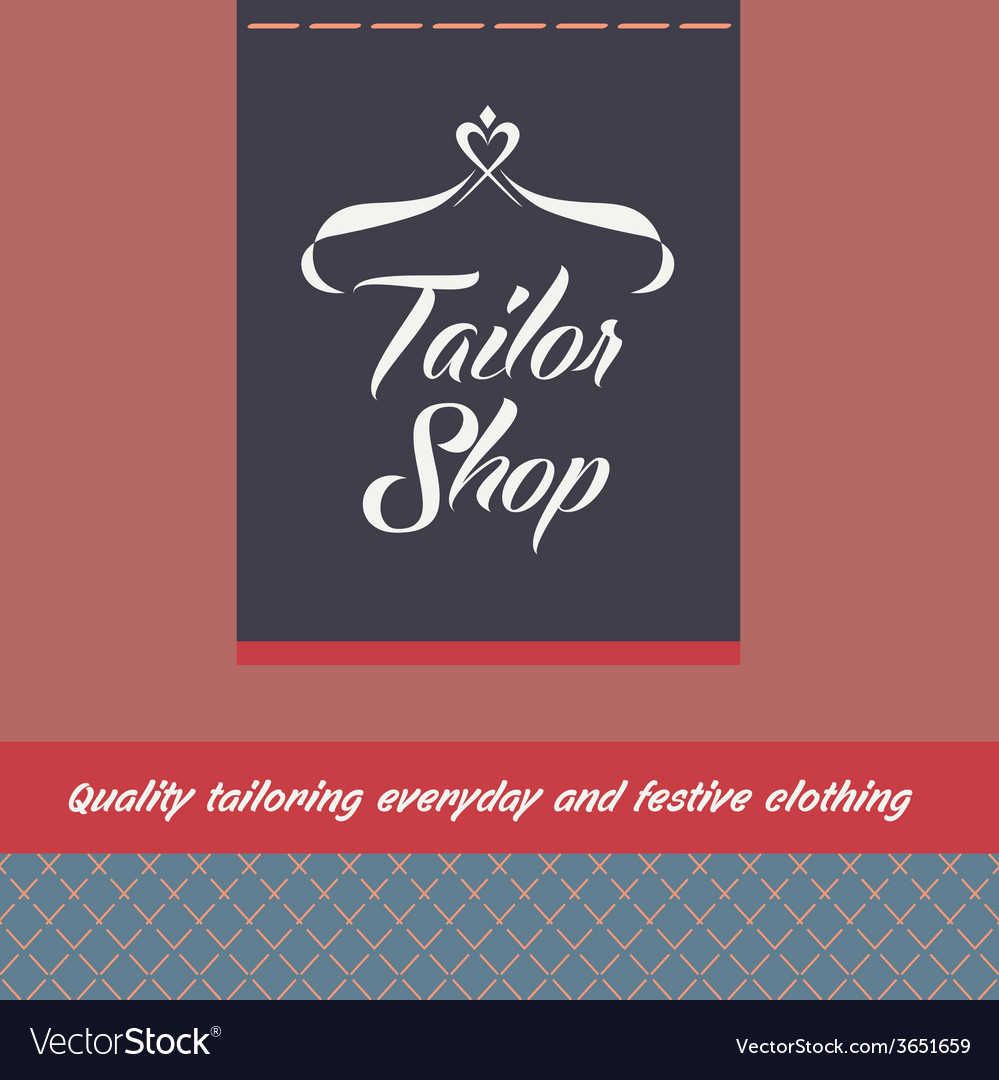 Logo and background for salon tailoring vector | Price: 1 Credit (USD $1)