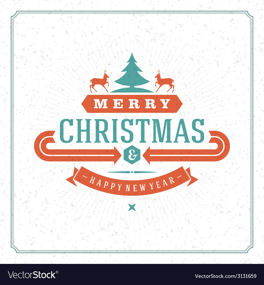 Merry christmas holidays wish greeting card vector | Price: 1 Credit (USD $1)