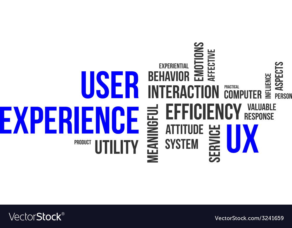 Word cloud user experience vector | Price: 1 Credit (USD $1)