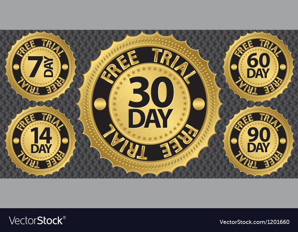 30 day free trial badge vector | Price: 3 Credit (USD $3)