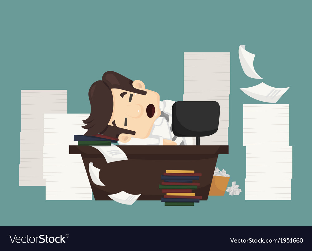 Businessman sleeping vector | Price: 1 Credit (USD $1)