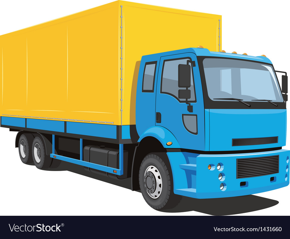 Commercial truck vector | Price: 3 Credit (USD $3)