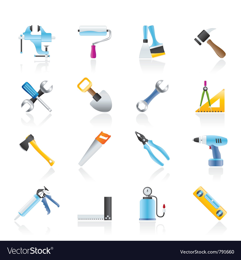 Construction work tool icons vector | Price: 3 Credit (USD $3)