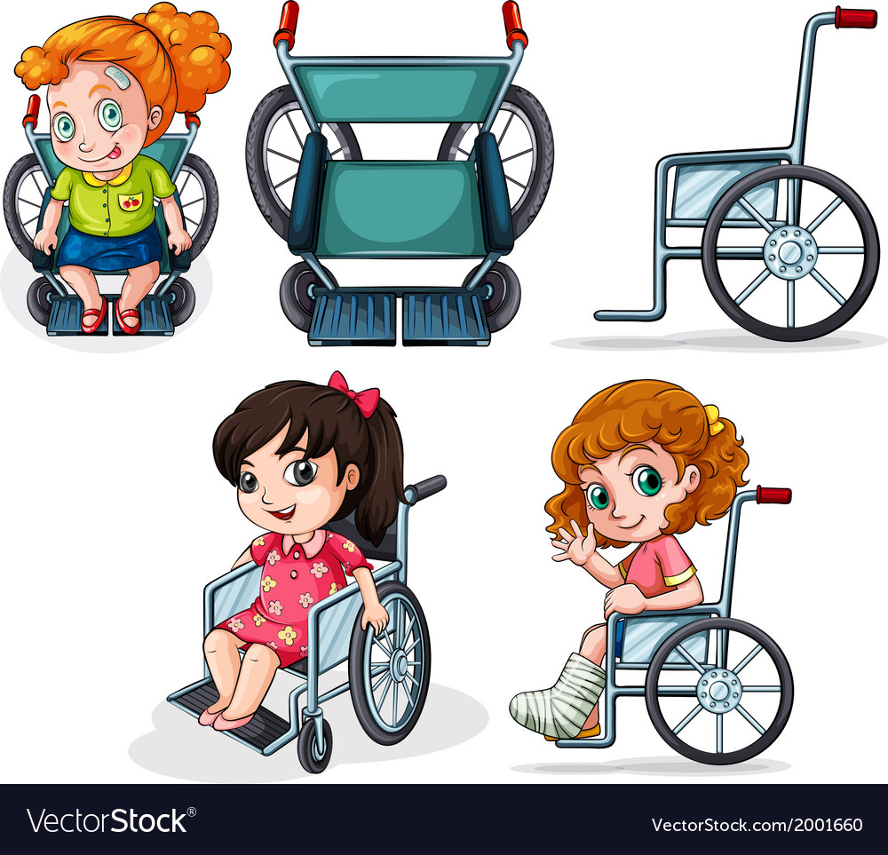Different wheelchairs vector | Price: 1 Credit (USD $1)