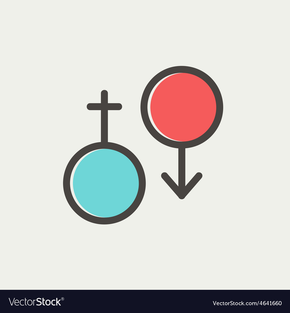 Male and female thin line icon vector   Price: 1 Credit (USD $1)