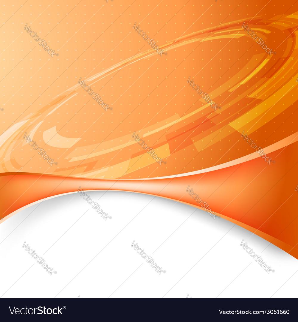 Mechanic gear orange tech background vector | Price: 1 Credit (USD $1)