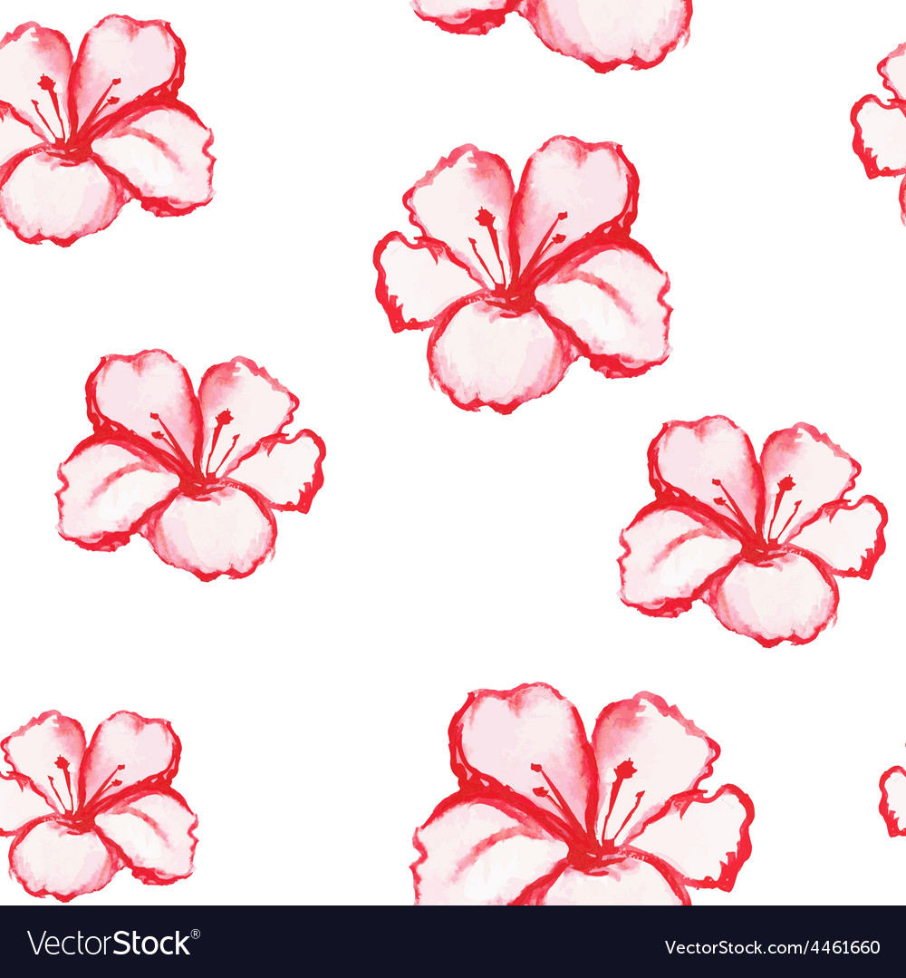 Patern seamless wallpaper with flowers vector | Price: 1 Credit (USD $1)