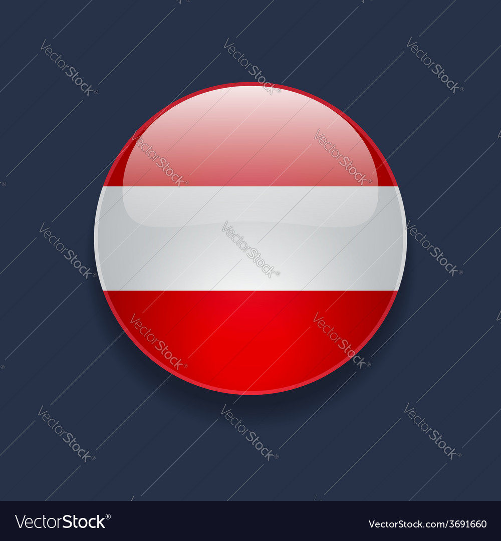 Round icon with flag of austria vector | Price: 1 Credit (USD $1)