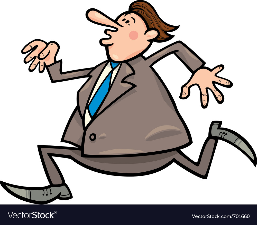 Running overweight businessman vector | Price: 1 Credit (USD $1)