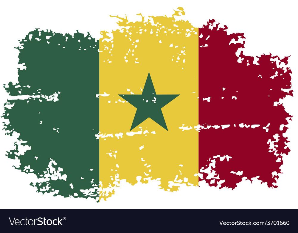 Senegalese grunge flag vector | Price: 1 Credit (USD $1)