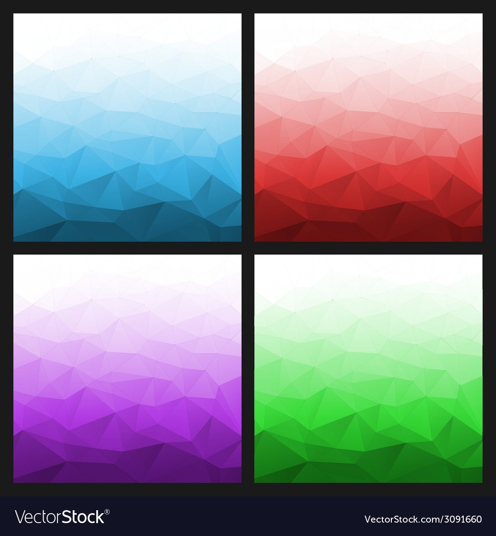 Set of abstract gradient geometric bright backgrou vector | Price: 1 Credit (USD $1)
