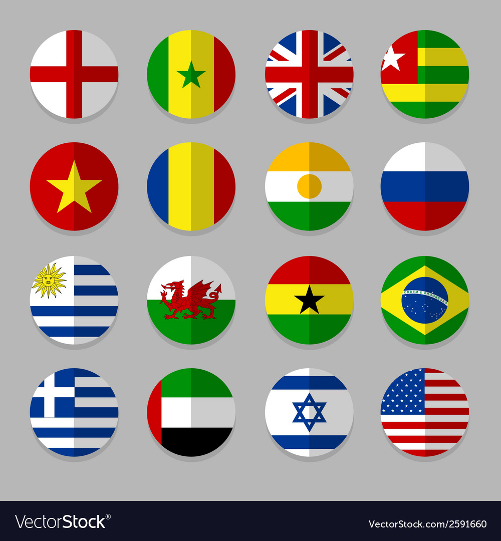 Set of flags icon vector | Price: 1 Credit (USD $1)