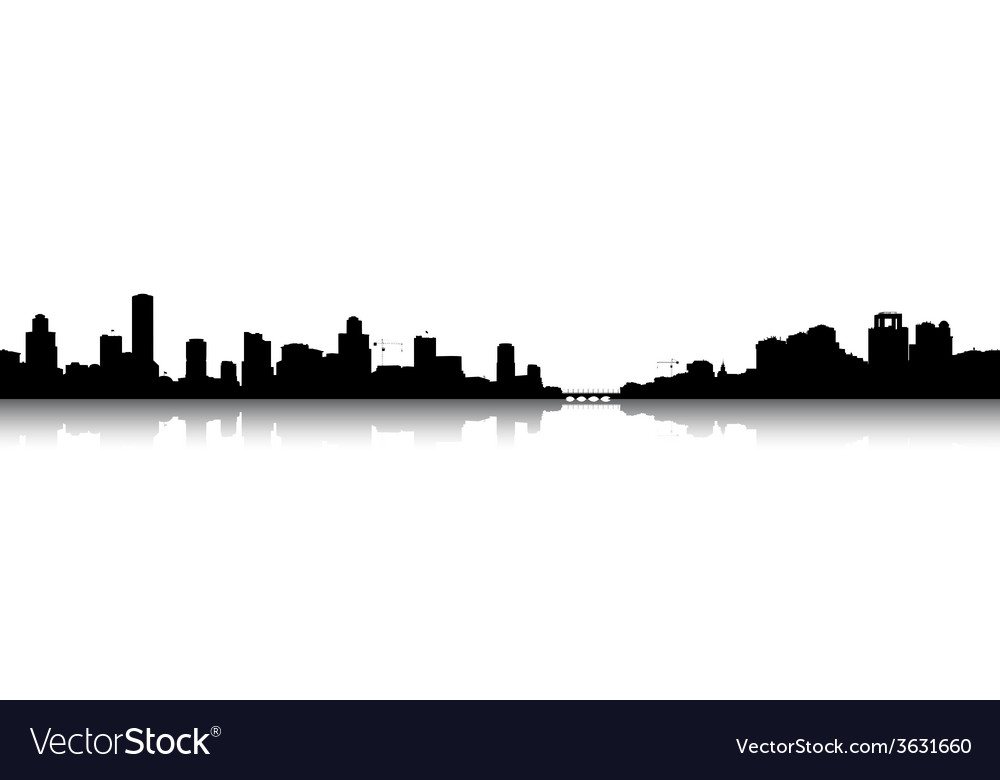 Silhouettes cityscapes vector | Price: 1 Credit (USD $1)