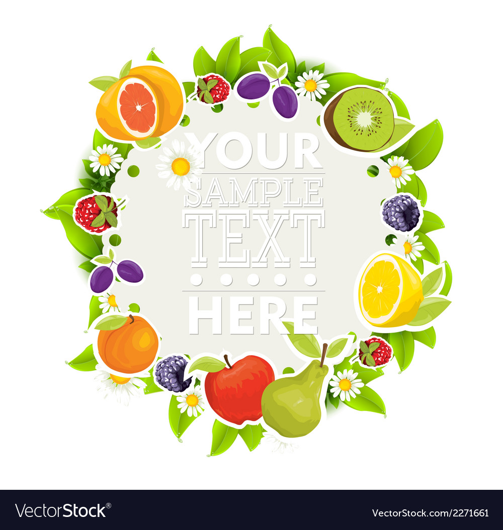 Fruit and vegetables background vector   Price: 1 Credit (USD $1)