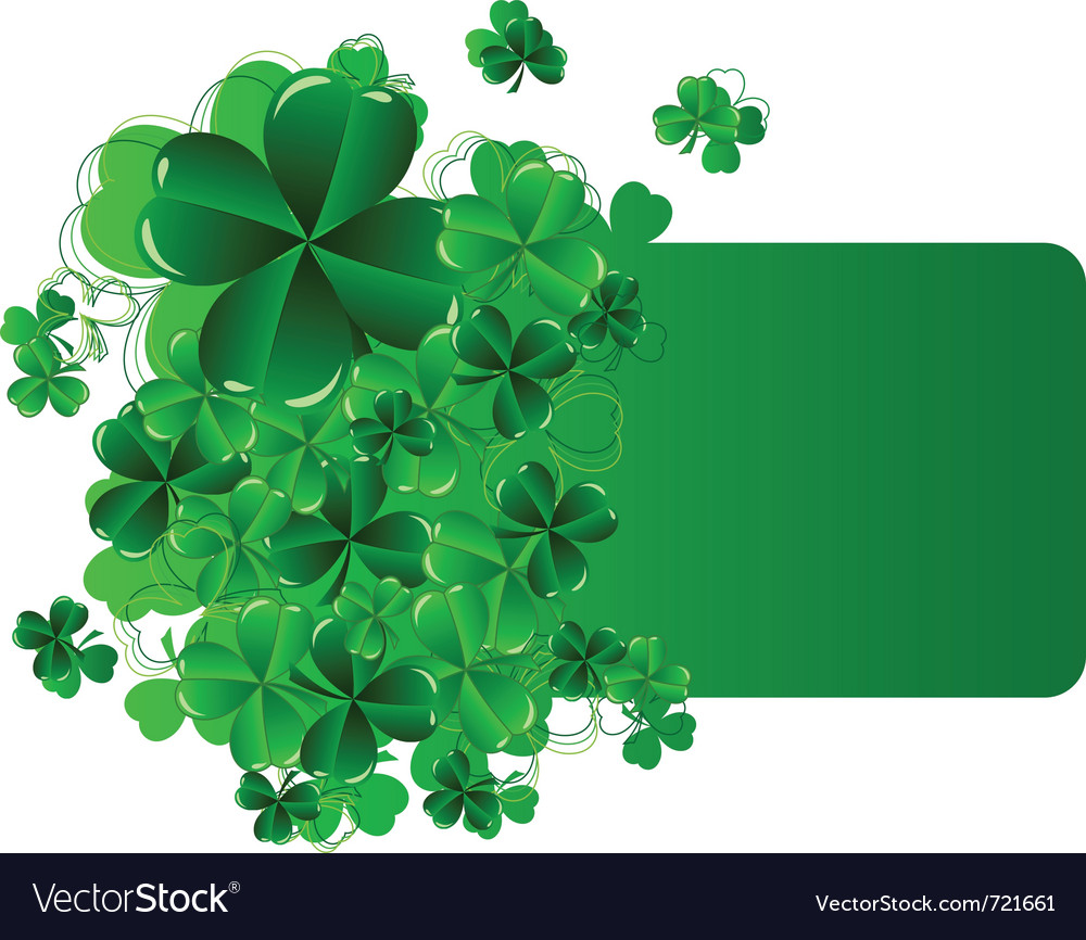 Greeting cards st patrick day with shamrock vector | Price: 1 Credit (USD $1)