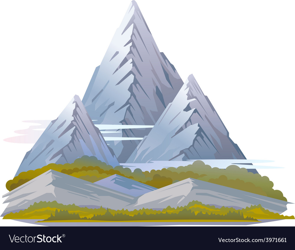 High mountain landscape vector | Price: 1 Credit (USD $1)