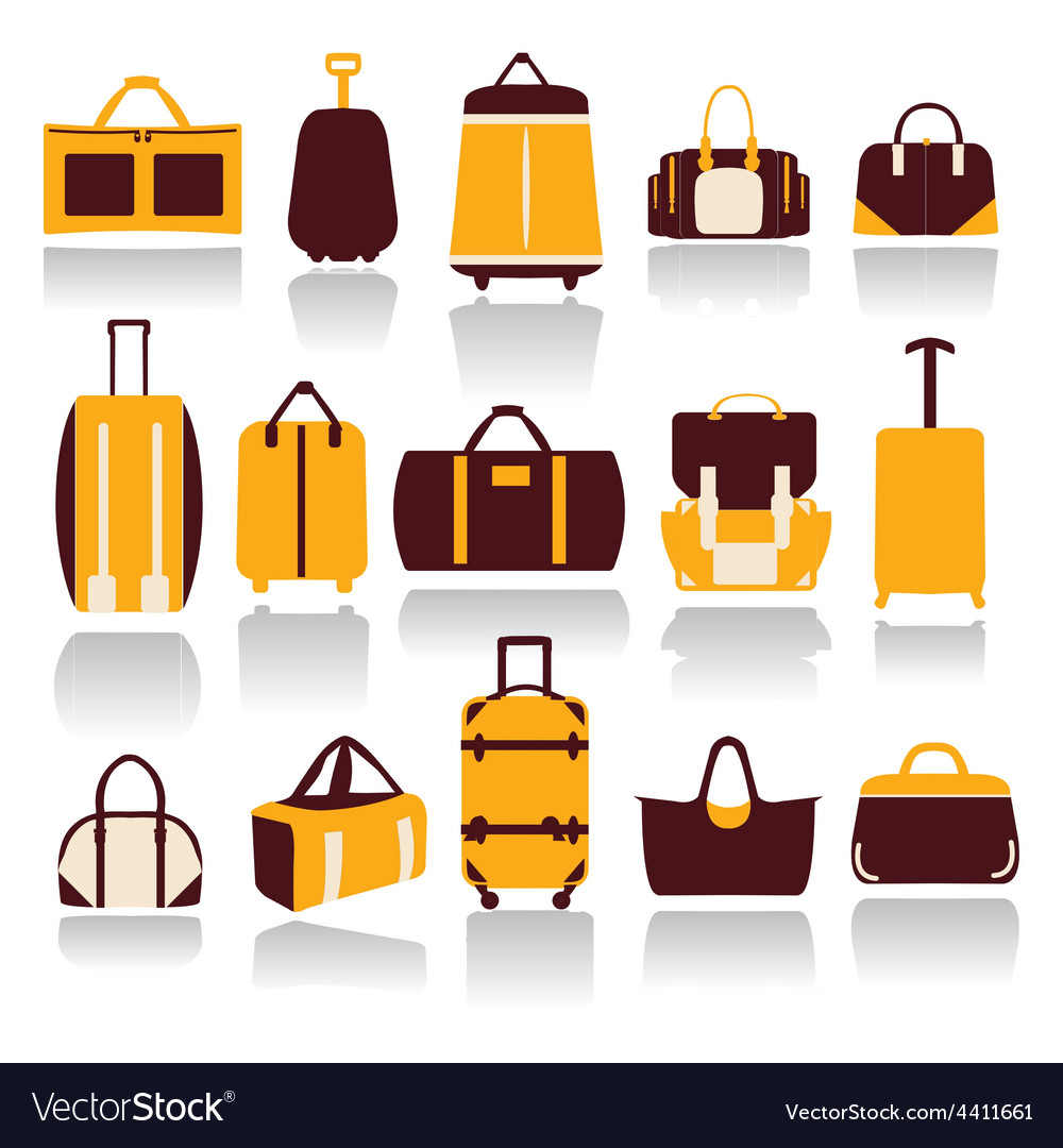 Icons set of baggage theme collection of travel vector | Price: 1 Credit (USD $1)