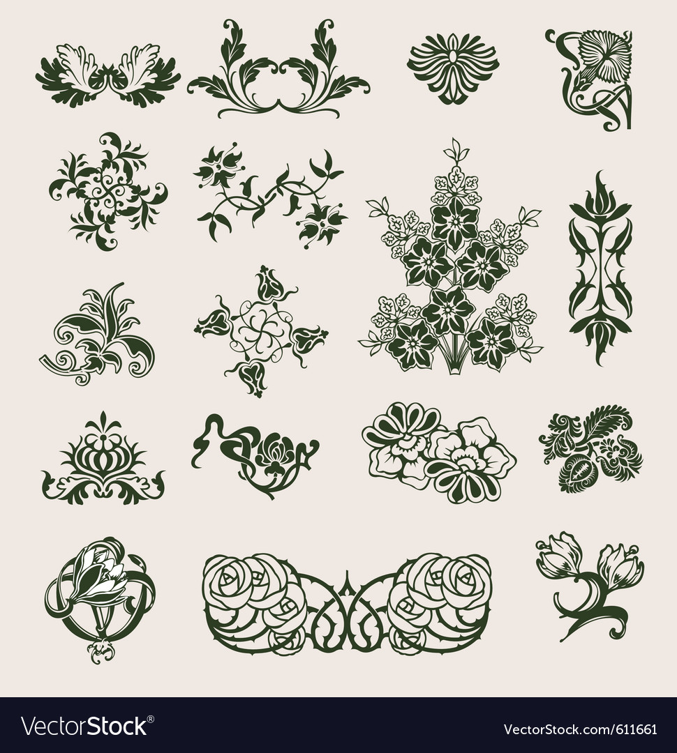 Ornament flower style vector | Price: 1 Credit (USD $1)