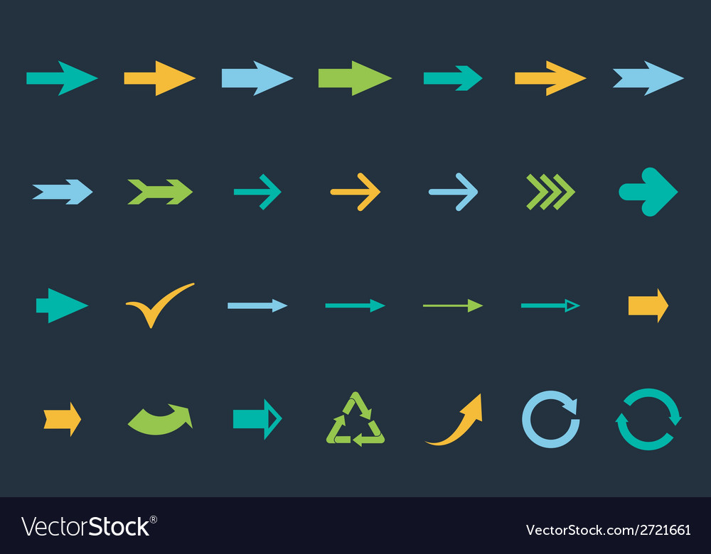 Set arrows vector | Price: 1 Credit (USD $1)