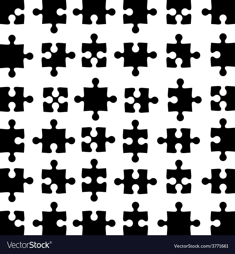 Set of black jigsaw puzzles vector | Price: 1 Credit (USD $1)