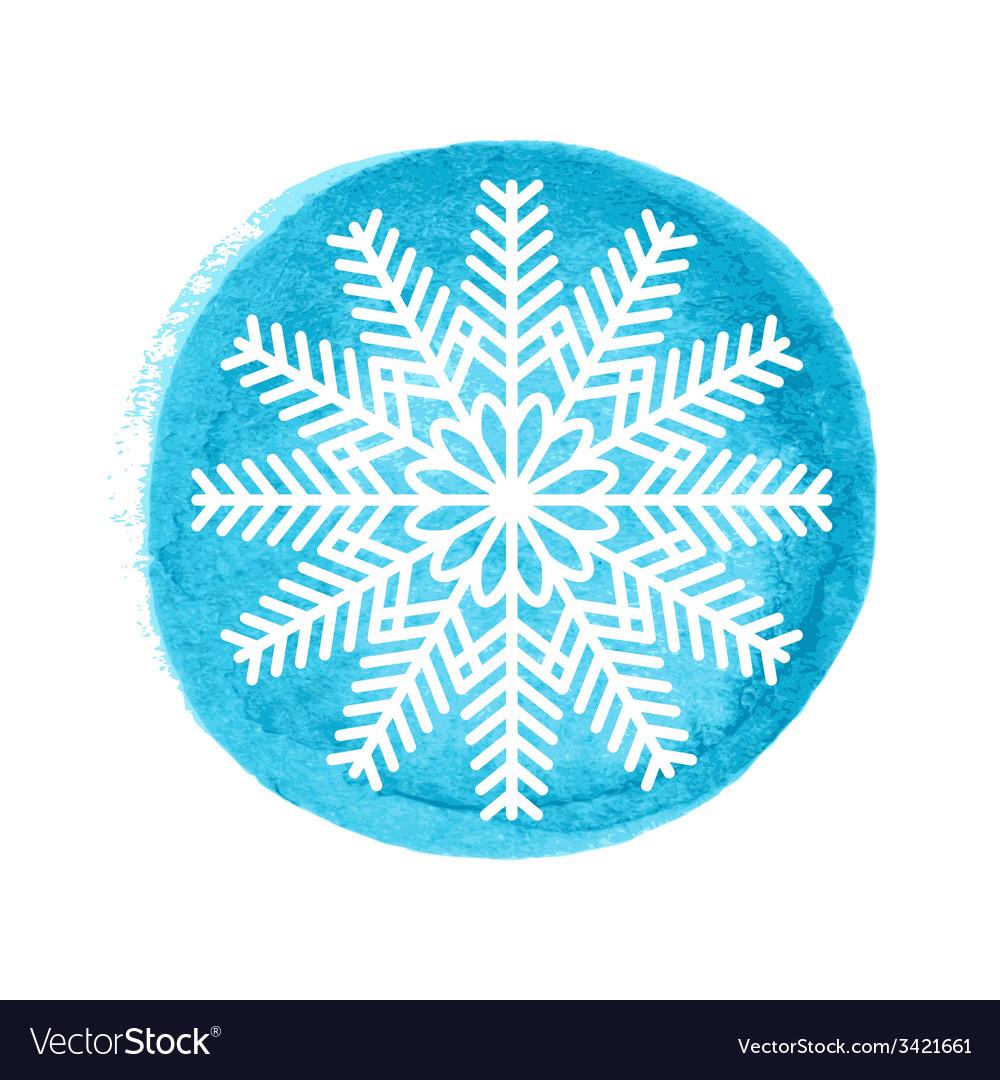 Snowflake greeting card vector | Price: 1 Credit (USD $1)