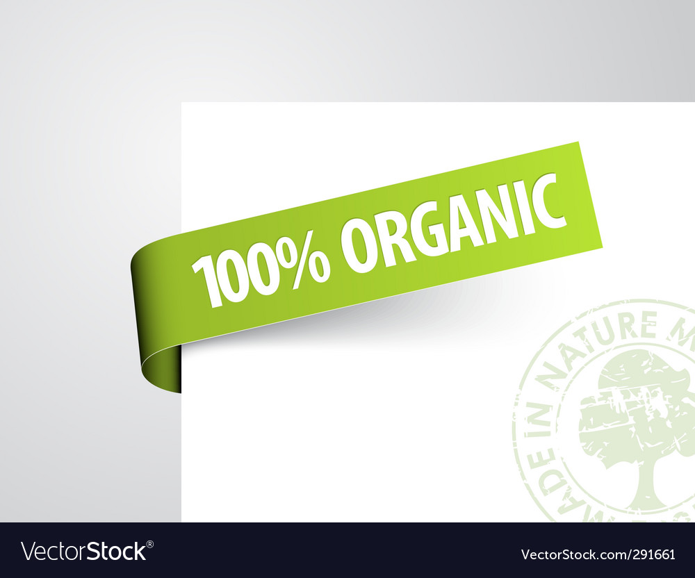 Tag for organic item vector | Price: 1 Credit (USD $1)