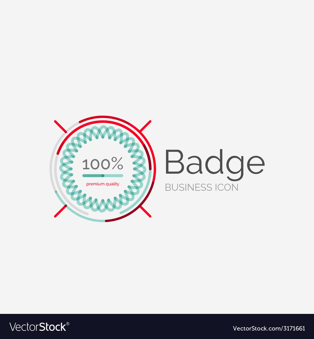 Thin line neat design logo premium quality stamp vector   Price: 1 Credit (USD $1)