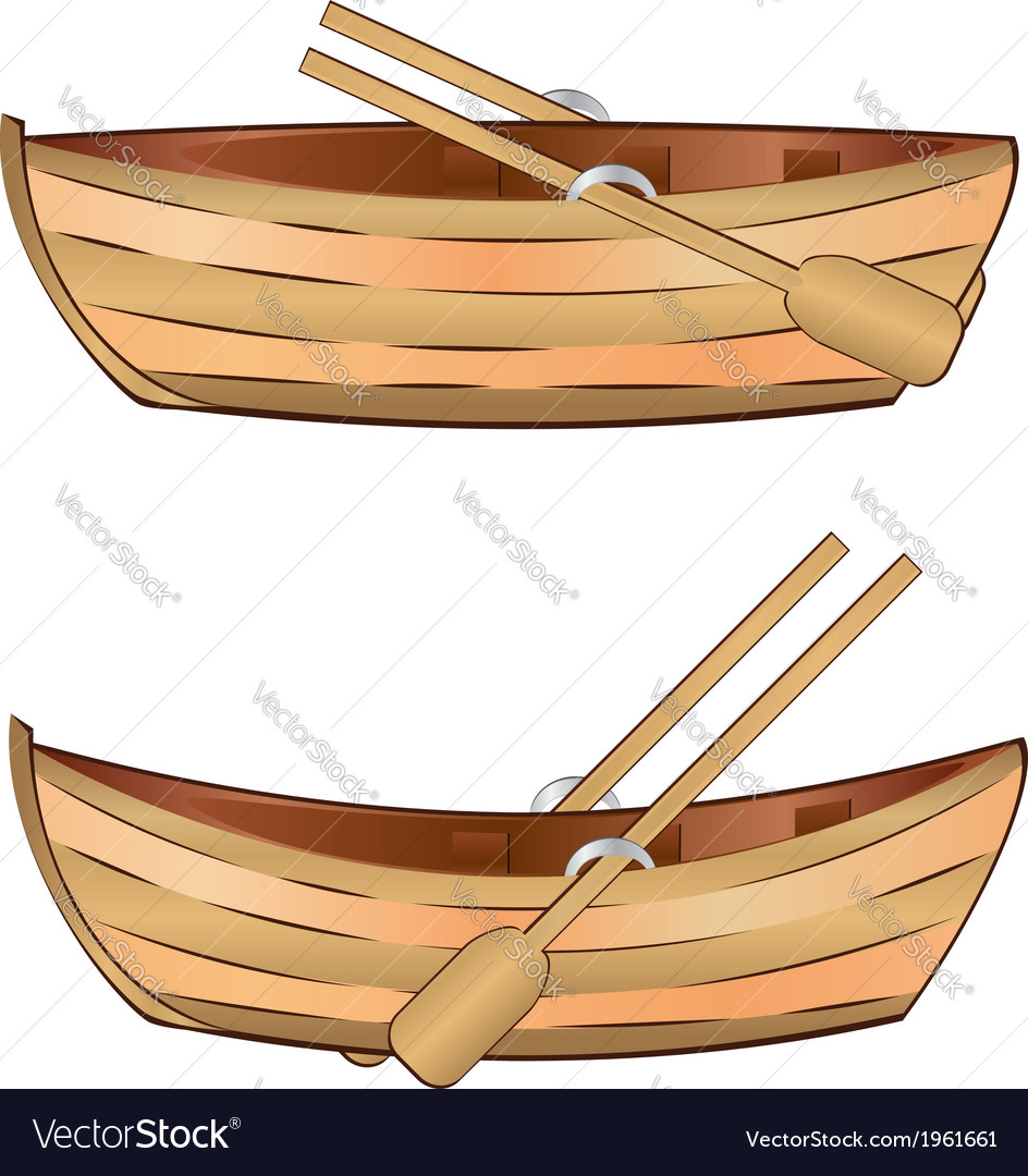 Wooden boat vector | Price: 1 Credit (USD $1)