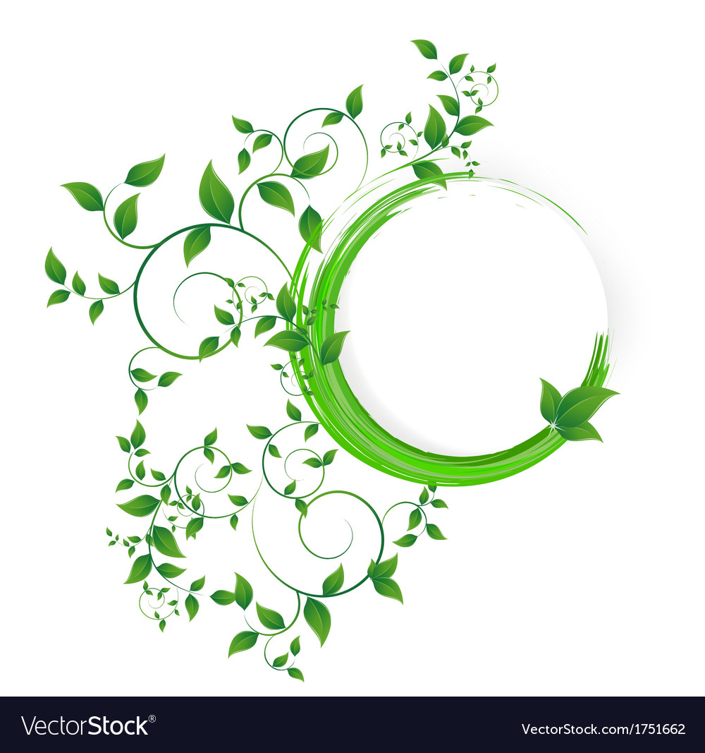 Abstract banner with curls of green color vector | Price: 1 Credit (USD $1)