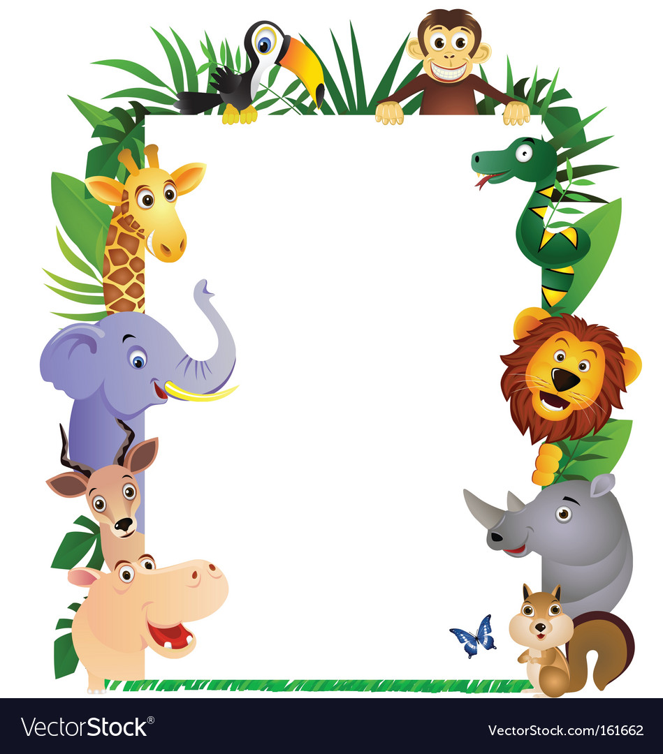 Animal cartoon frame vector | Price: 3 Credit (USD $3)