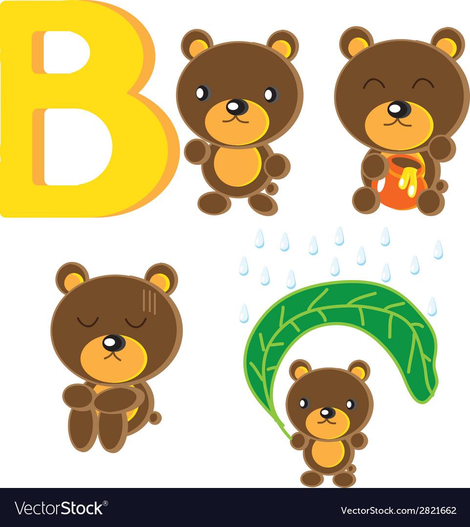 B bear vector | Price: 1 Credit (USD $1)