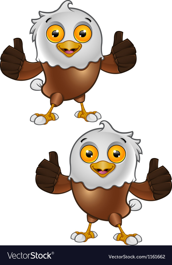 Bald eagle character 5 vector | Price: 1 Credit (USD $1)