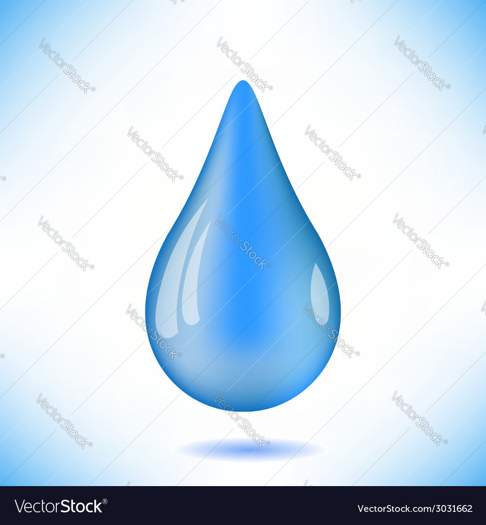 Blue water drop vector | Price: 1 Credit (USD $1)