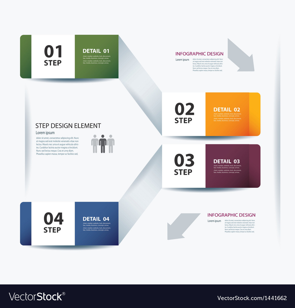 Business step paper data and numbers design vector | Price: 1 Credit (USD $1)