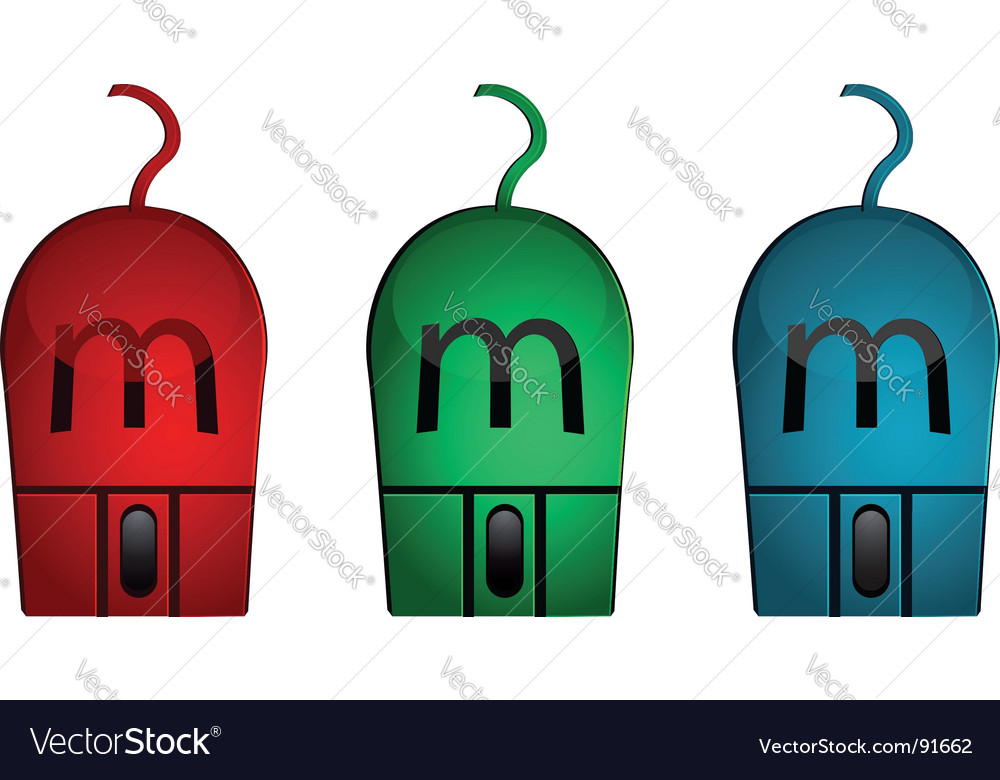 Computer mouses vector | Price: 1 Credit (USD $1)