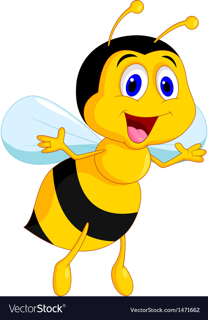 Cute bee cartoon vector | Price: 1 Credit (USD $1)