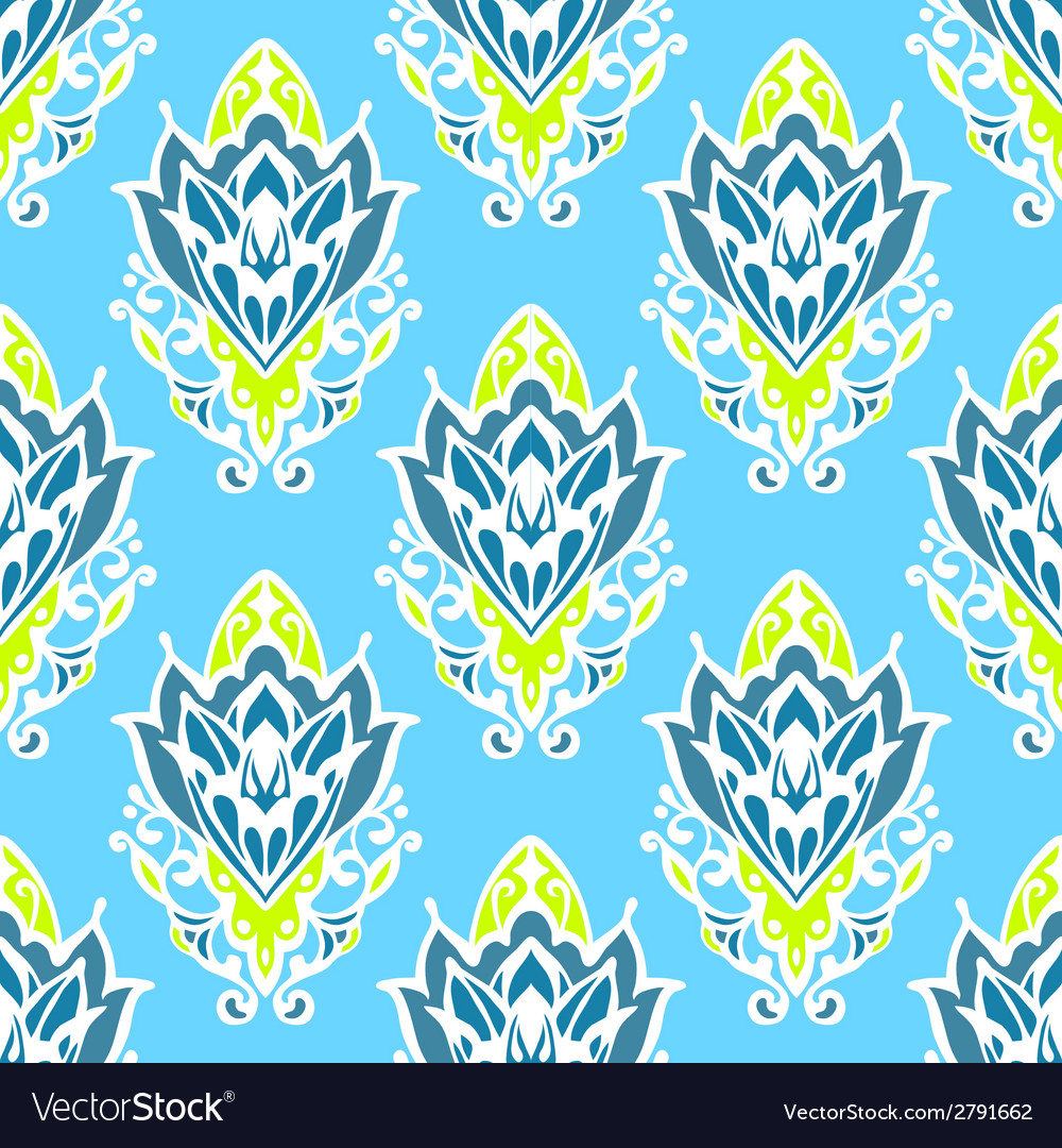 Damask floral seamless pattern vector | Price: 1 Credit (USD $1)
