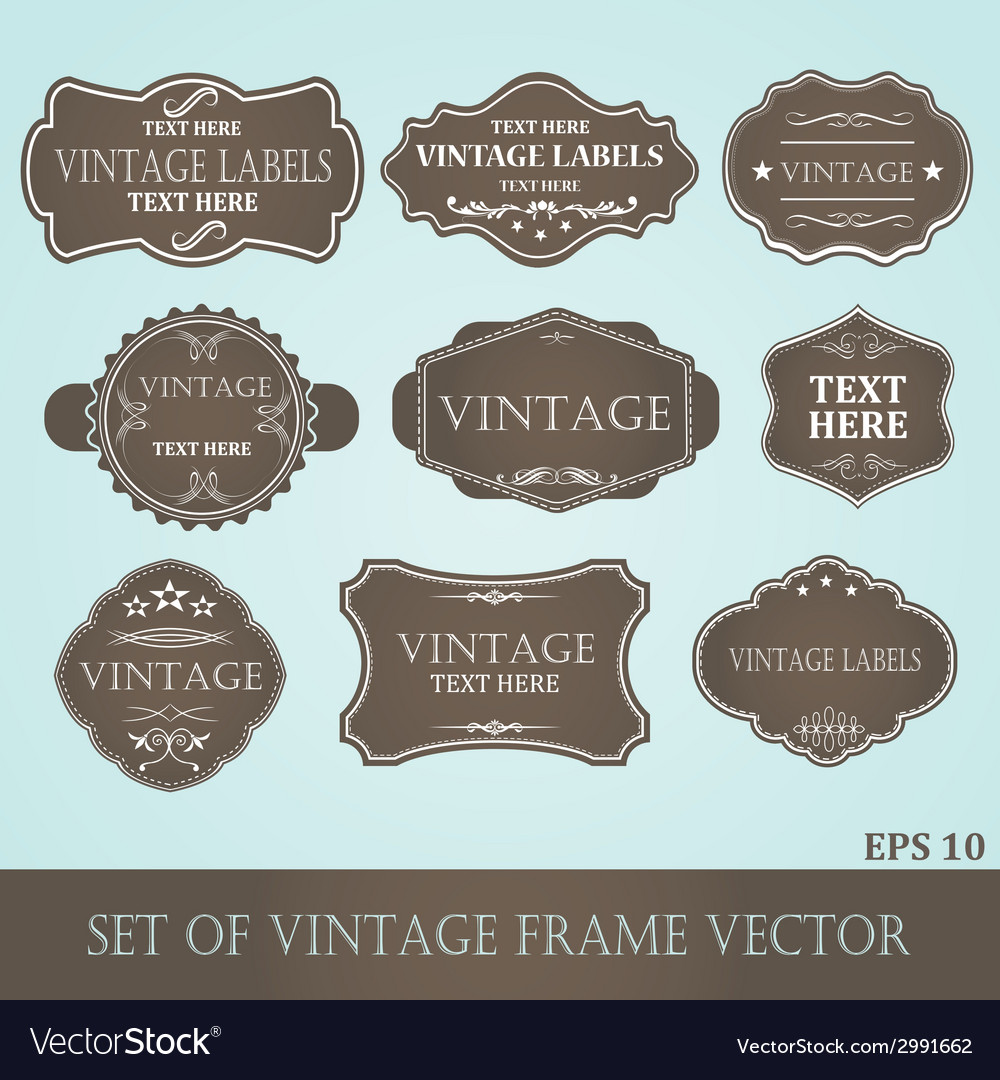 Frames label vintage vector | Price: 1 Credit (USD $1)