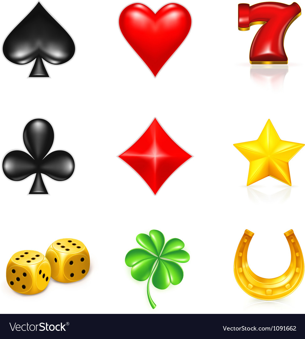 Gambling and luck icon set vector | Price: 1 Credit (USD $1)