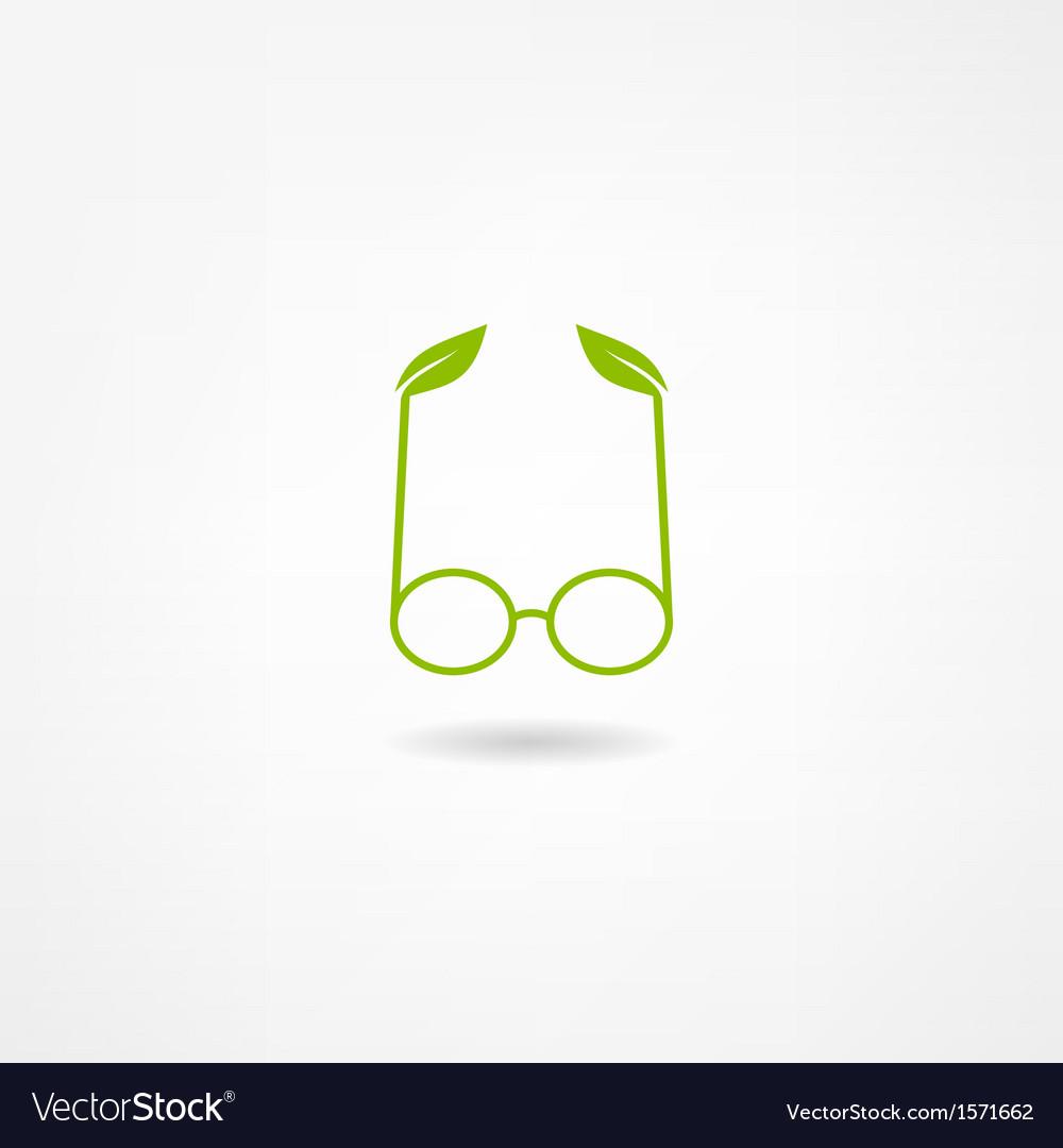 Glasses icon vector | Price: 1 Credit (USD $1)