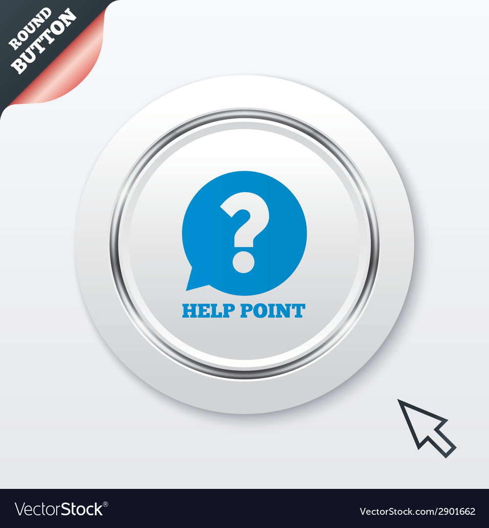 Help point sign icon question symbol vector | Price: 1 Credit (USD $1)