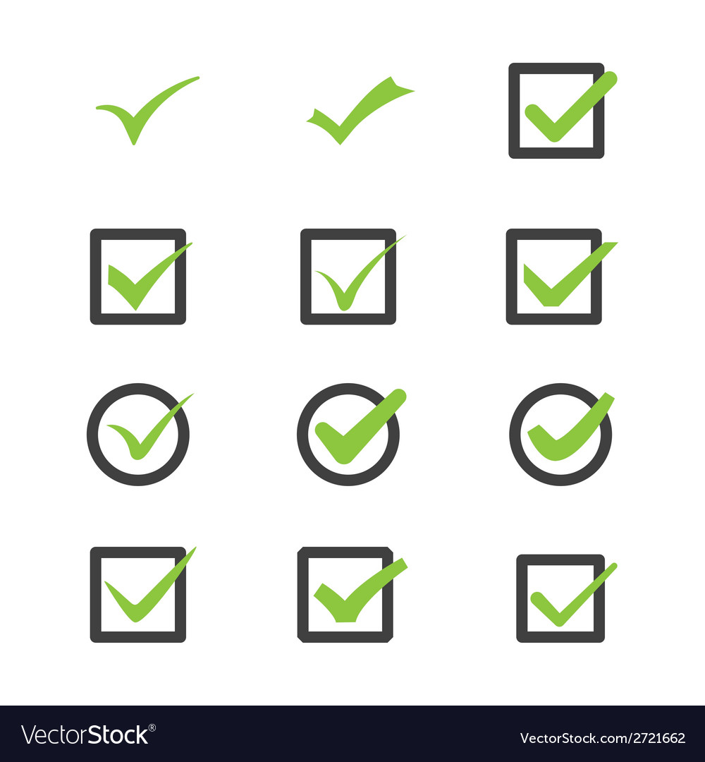 Marks of approval vector | Price: 1 Credit (USD $1)